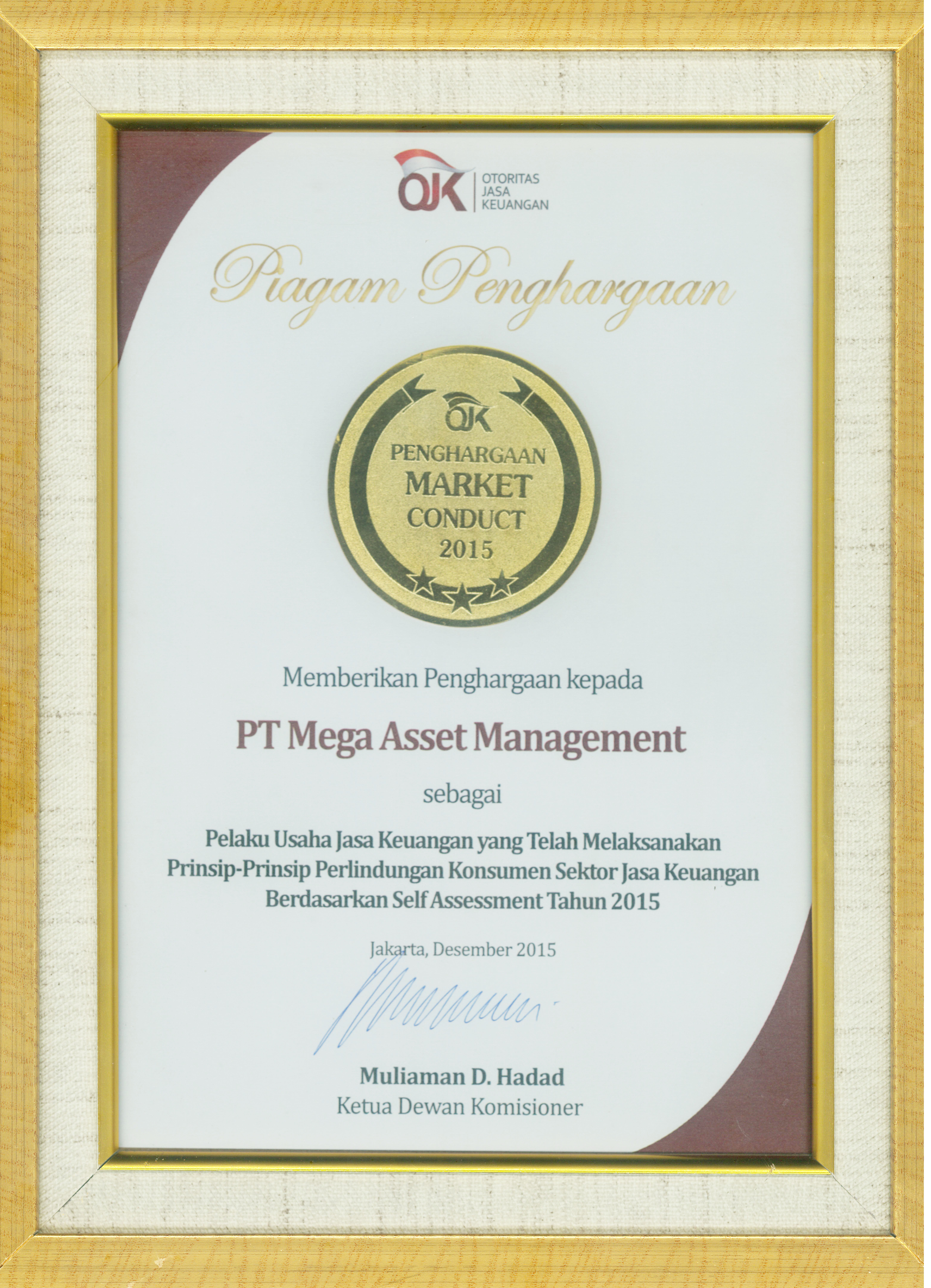 Market Conduct Award